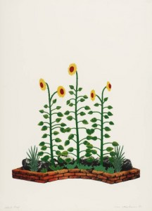 Sunflowers 1972 by Ivor Abrahams born 1935