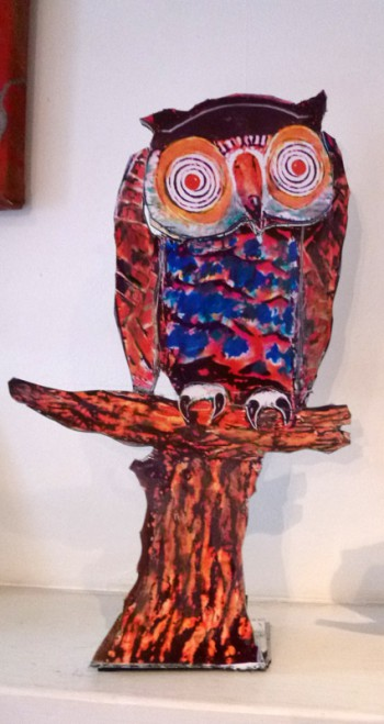Finished owl with original maquette