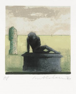 Alone 1976 by Ivor Abrahams born 1935