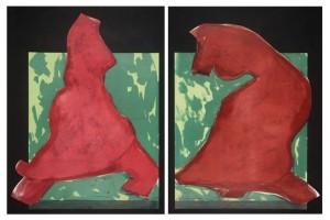 Diptych 1981 by Ivor Abrahams born 1935